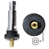 TPMS - OEM Sensor Service Kit - Snap in Rubber Valve w/Chrome Sleeve